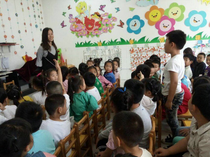 我校金城幼儿园组织幼小衔接之小学老师进课堂活动